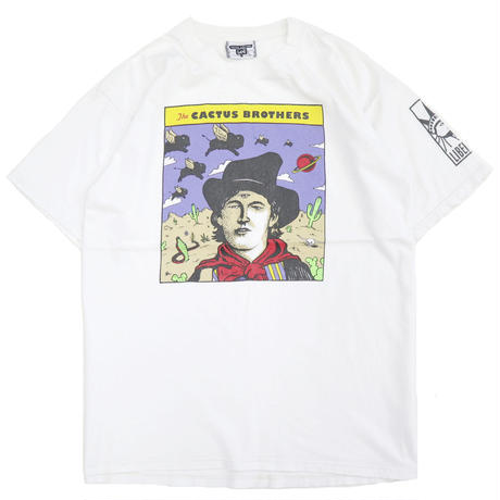 """90's Lee """"THE CACTUS BROTHERS"""" プリント Tシャツ White Lサイズ USA製"""