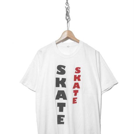 "80's ""SKATE SKATE"" 両面 プリント Tシャツ XLサイズ"