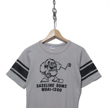 70's CHAMPION 両面プリント フットボール Tシャツ バータグ GRAY