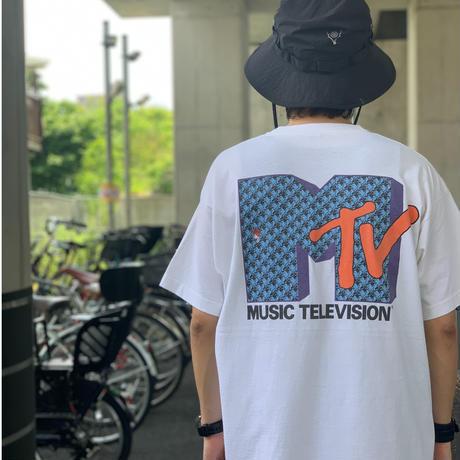 "~90's Fruit of the loom ""MTV"" 両面 プリント Tシャツ XLサイズ USA製"