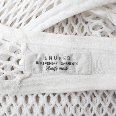 """Unisex"" UNUSED メッシュ タンクトップ WHITE"