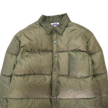 90's 当時物 GOODENOUGH Ripstop Nylon Down Shirt Jacket Olive Lサイズ