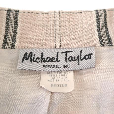"""""""Women's"""" ~90's Michael Taylor チェック テーラード ジャケット Mサイズ USA製"""