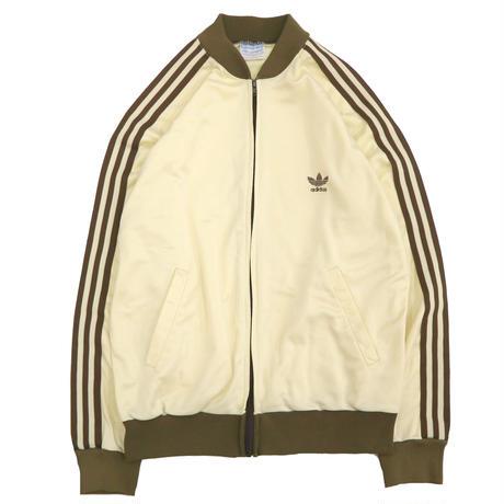"80's Adidas ""ATP"" Track Jersey Top Cream×Brown Lサイズ USA製"