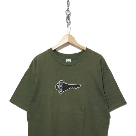 """90's OLD STUSSY 両面プリント Tシャツ """"knowledge is key"""" 白タグ USA製"""