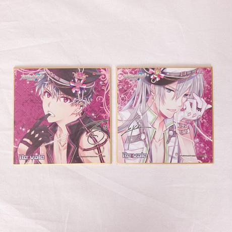 CD アイドリッシュセブン Re:vale 1st Album Re:al Axis 豪華盤 購入特典 Re:vale 複製ミニサイン色紙(2枚セット)