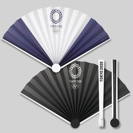 東京2020オリンピックエンブレム スイング扇子 ブラック