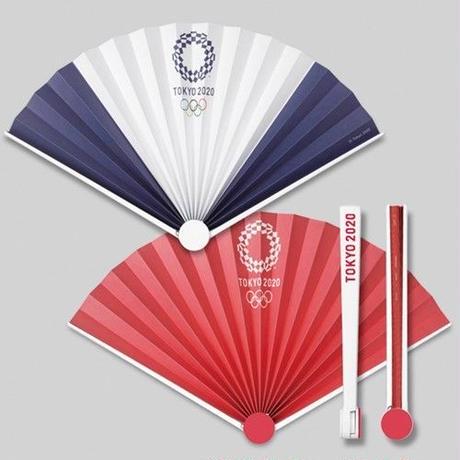 東京2020オリンピックエンブレム スイング扇子 レッド