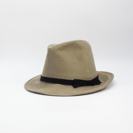 Brushed gabardine hat
