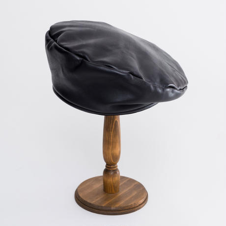 Leather  army beret