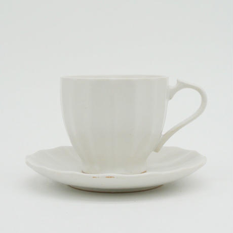 【AP007wh】Ancient Pottery CUP & SAUCER white