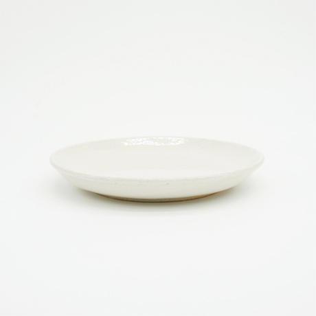 【H005sn】Heuge PLATE S shino(五寸深皿 志野)