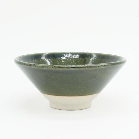 【H003ob】Heuge RICE BOWL oribe(茶碗 織部)