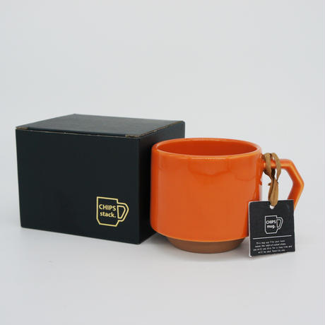 【CS011】CHIPS stack mug. SOLID COLOR orange