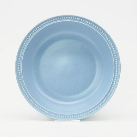 【M051bg】パンとごはんと... リムドット ラウンドボウル L blue-gray
