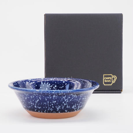 【CB002nw】CHIPS bowl. SPLASH navy-white