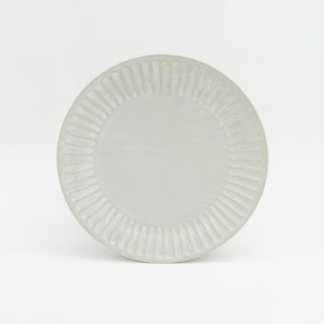 【M043wh】パンとごはんと... ひらひらの器 ROUND PLATE M white