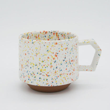 【CS002wo】CHIPS stack mug. SPLASH white-orange