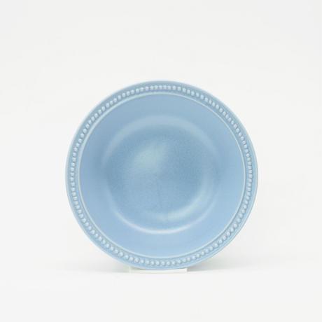 【M050bg】パンとごはんと... リムドット ラウンドボウル S blue-gray