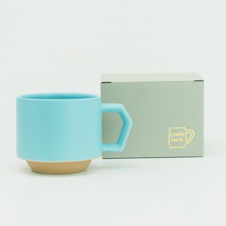 【CT-002】CHIPS stack mug. TOY COLOR -sky blue × beige-