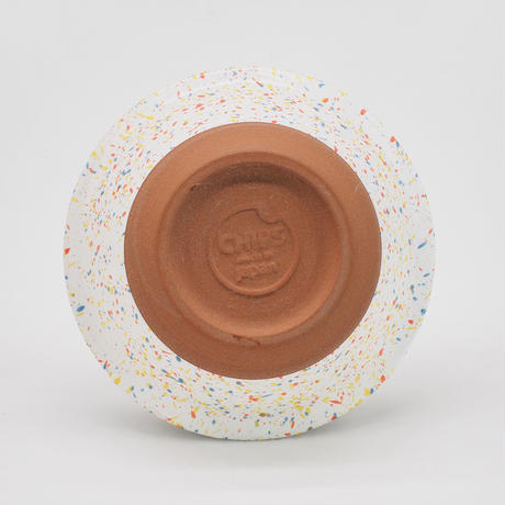 【CB002wo】CHIPS bowl. SPLASH white-orange