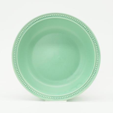 【M051gr】パンとごはんと... リムドット ラウンドボウル L green