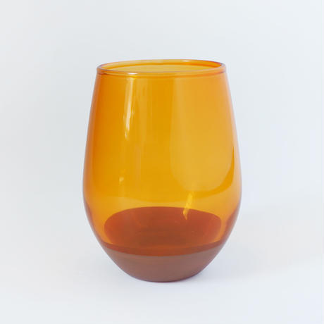 【CG011】CHIPS glass. SOLID COLOR orange