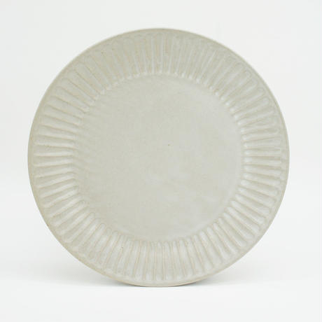 【M044wh】パンとごはんと... ひらひらの器 ROUND PLATE L white