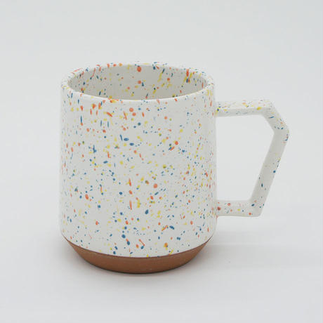 【C002wo】CHIPS mug. SPLASH white-orange