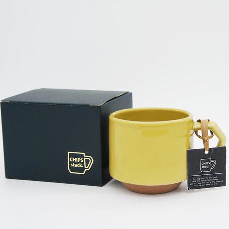 【CS009】CHIPS stack mug. SOLID COLOR mustard