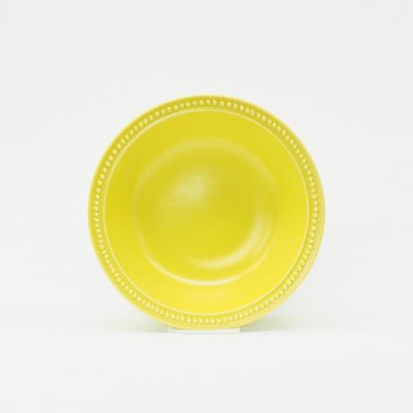 【M050yl】パンとごはんと... リムドット ラウンドボウル S yellow