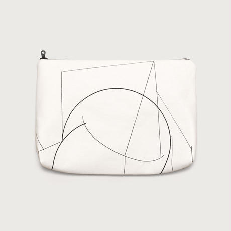 Clutch bag small  /  white A