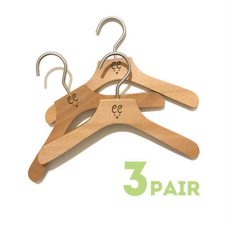 Original wood logo hanger (3 PAIR)