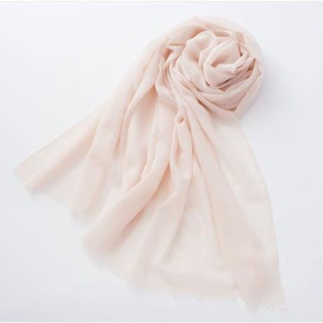 エアーカシミアストール カシミア100% col. 桜ピンク