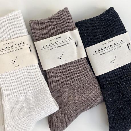 KARMAN LINE / Norma  (cotton silk  rib socks )