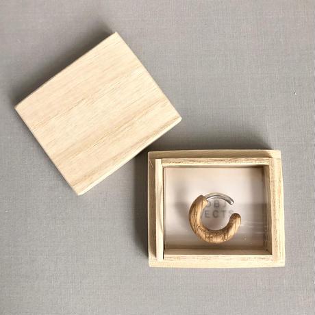 SO / OBJECTS   wood donut cuff  ( 片耳 )