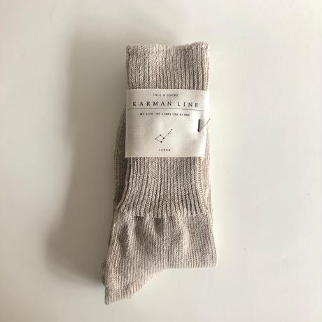 KARMAN LINE / Norma  ( linen rib socks )   col : Raw