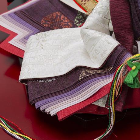 京十番親王飾「プラチナ箔袋帯:御印文白樺」