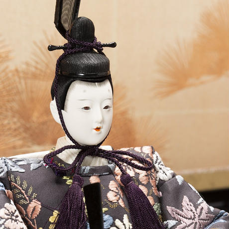 京十番親王飾「唐織袋帯:吉祥花丸文錦」