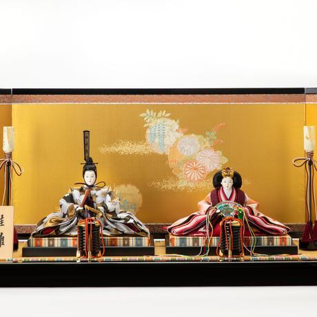 京十番親王飾「流水桜文錦」