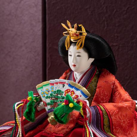 京十一番親王飾「唐花文錦:海松色」