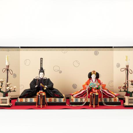 京十番親王飾「桐竹鳳凰文錦」