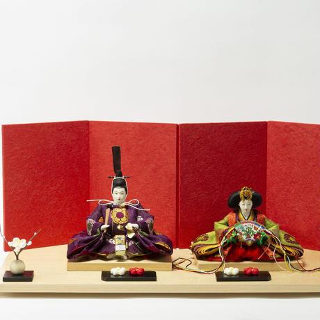 京十一番親王飾「亀甲地梅丸文錦」