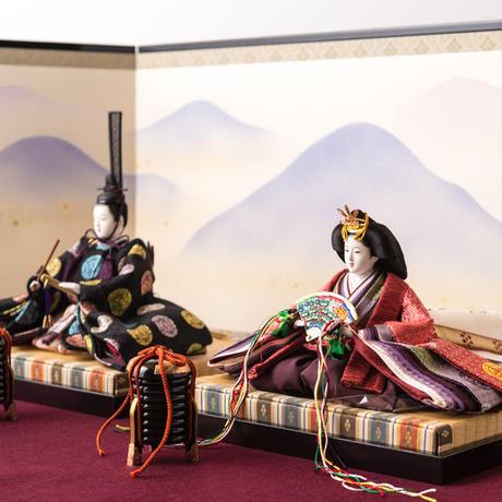 京十番親王飾「菱地向鳳凰の丸文錦」