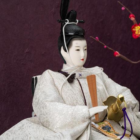 京十一番親王MARU飾「龍村裂:菊もみ(銀)」