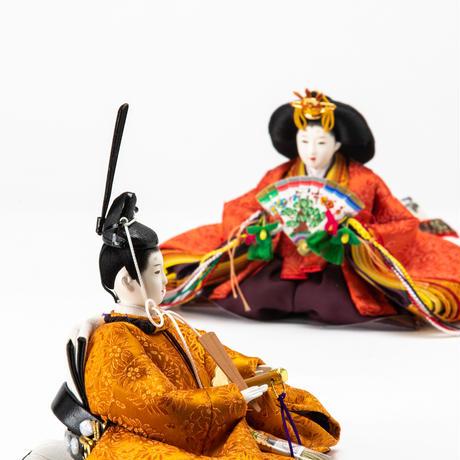京十一番親王飾「唐花文錦:金色」