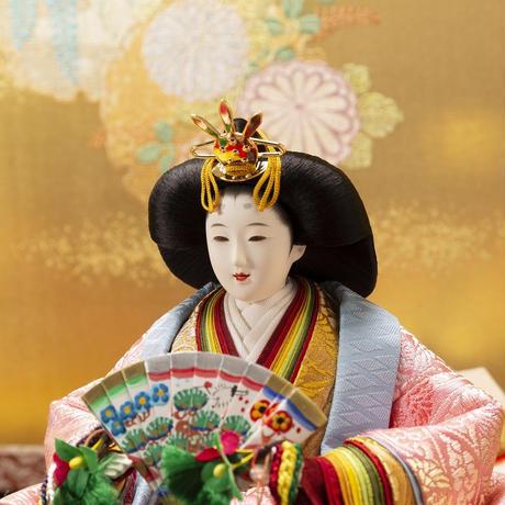 京十番親王飾「唐草地浮線菊文錦」