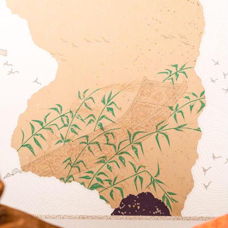 京十番親王飾「黄櫨染:桐竹鳳凰麒麟文錦」