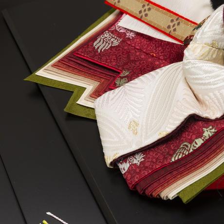 京十番親王飾「唐織袋帯:若松文錦」
