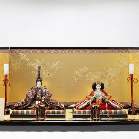 京十番親王飾「楼閣山水文錦」